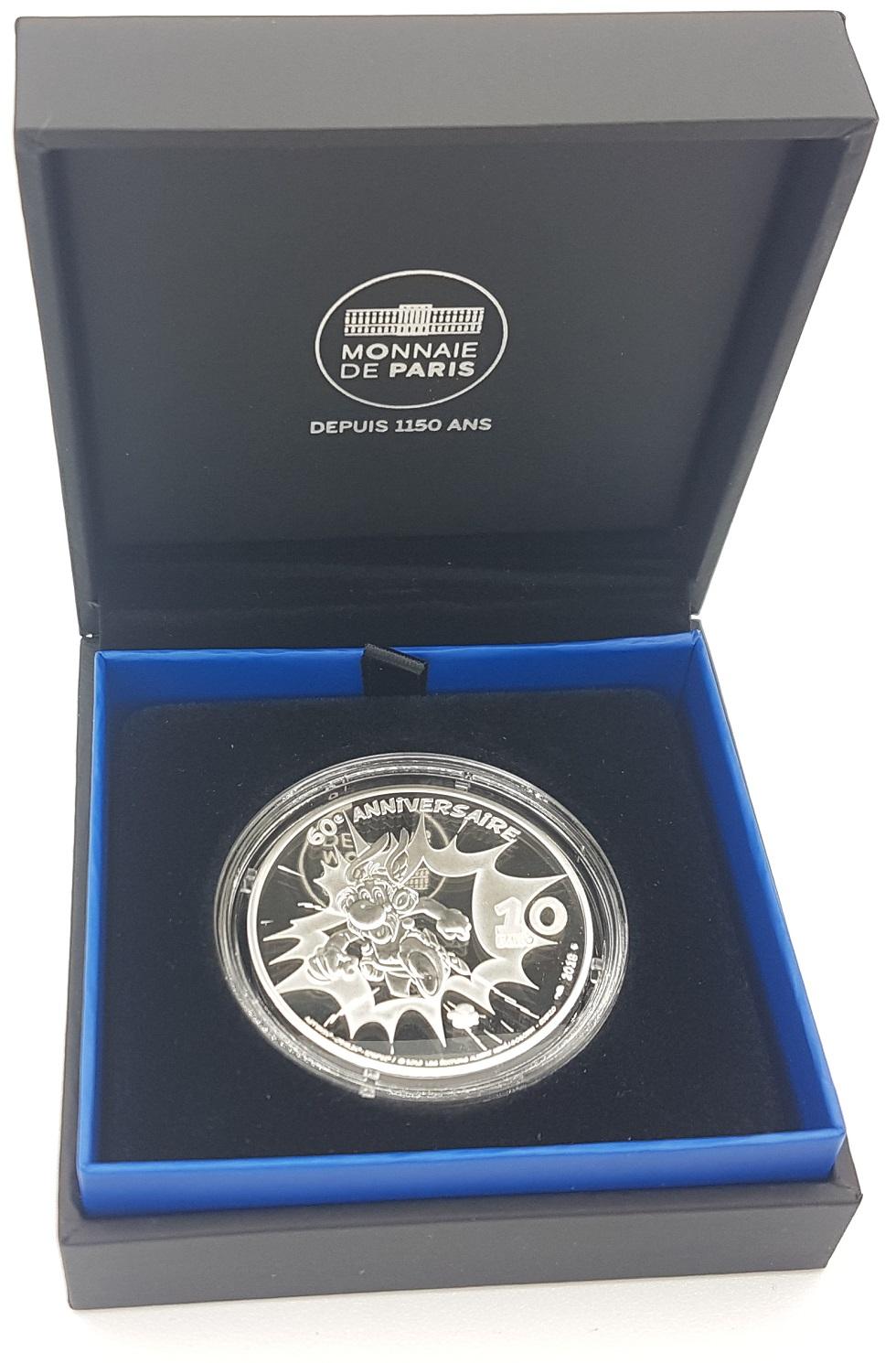 (EUR07.ComBU&BE.2019.10041329520000) 10 euro France 2019 Proof silver - Astérix Reverse (zoom)