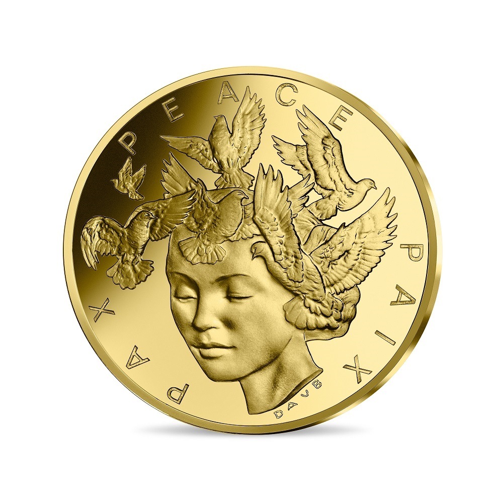 (EUR07.ComBU&BE.2020.10041349420000) 200 euro France 2020 Proof gold - Peace Obverse (zoom)