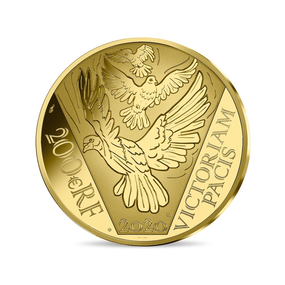 (EUR07.ComBU&BE.2020.10041349420000) 200 euro France 2020 Proof gold - Peace Reverse (zoom)