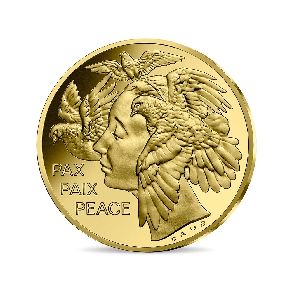 (EUR07.ComBU&BE.2020.10041349430000) 50 euro France 2020 Proof gold - Peace Obverse (zoom)