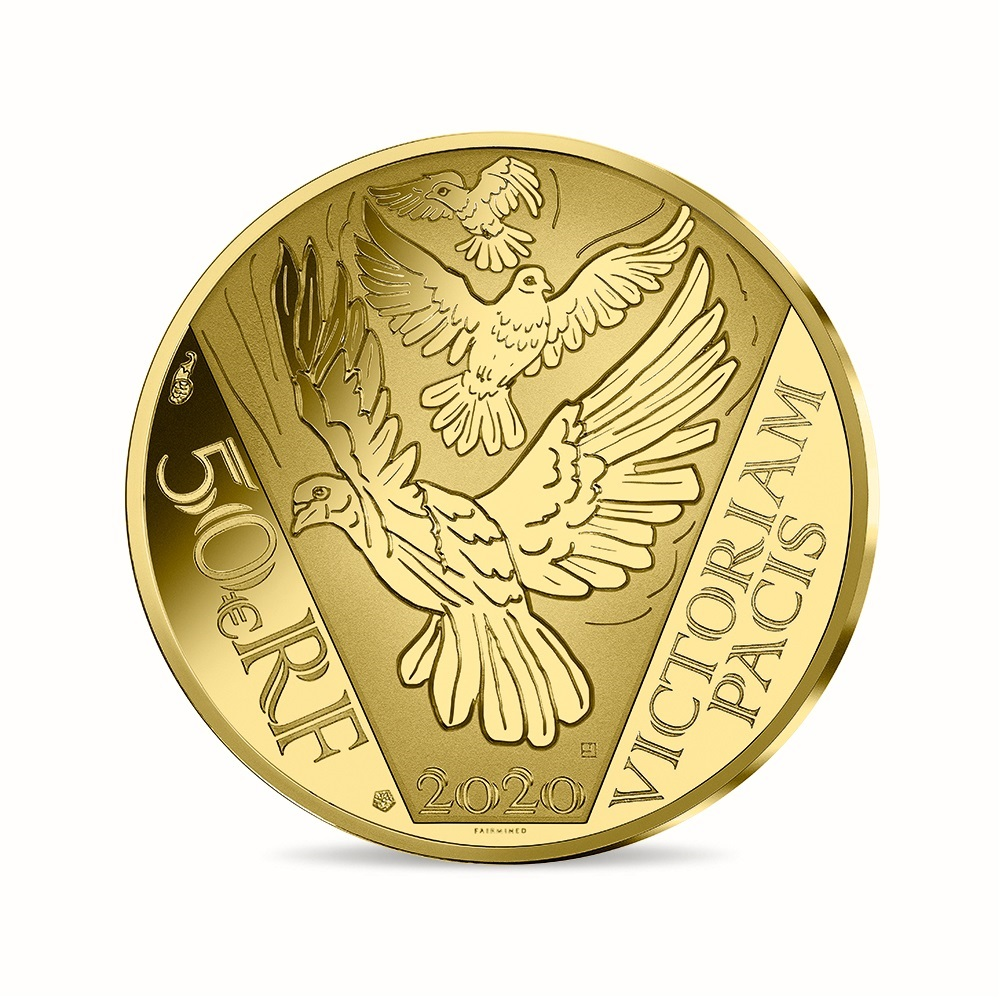 (EUR07.ComBU&BE.2020.10041349430000) 50 euro France 2020 Proof gold - Peace Reverse (zoom)