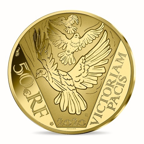 (EUR07.ComBU&BE.2020.10041349430000) 50 euro France 2020 or BE - Paix Revers