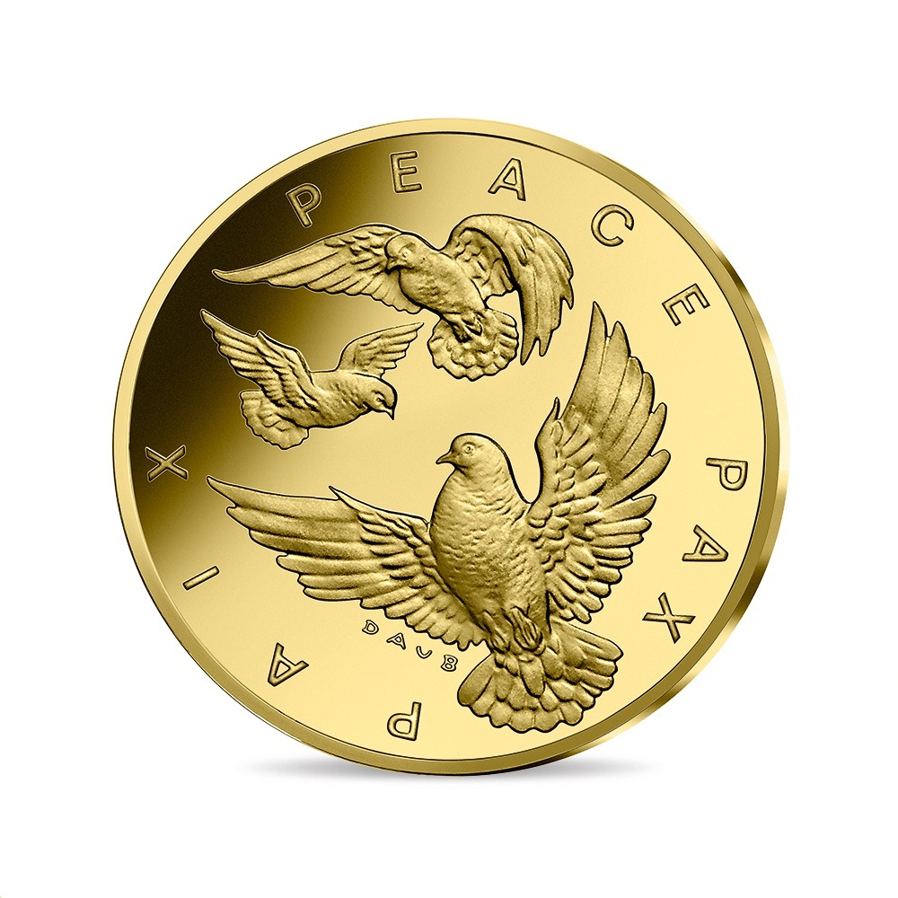 (EUR07.ComBU&BE.2020.10041349450000) 10 euro France 2020 Proof gold - Peace Obverse (zoom)