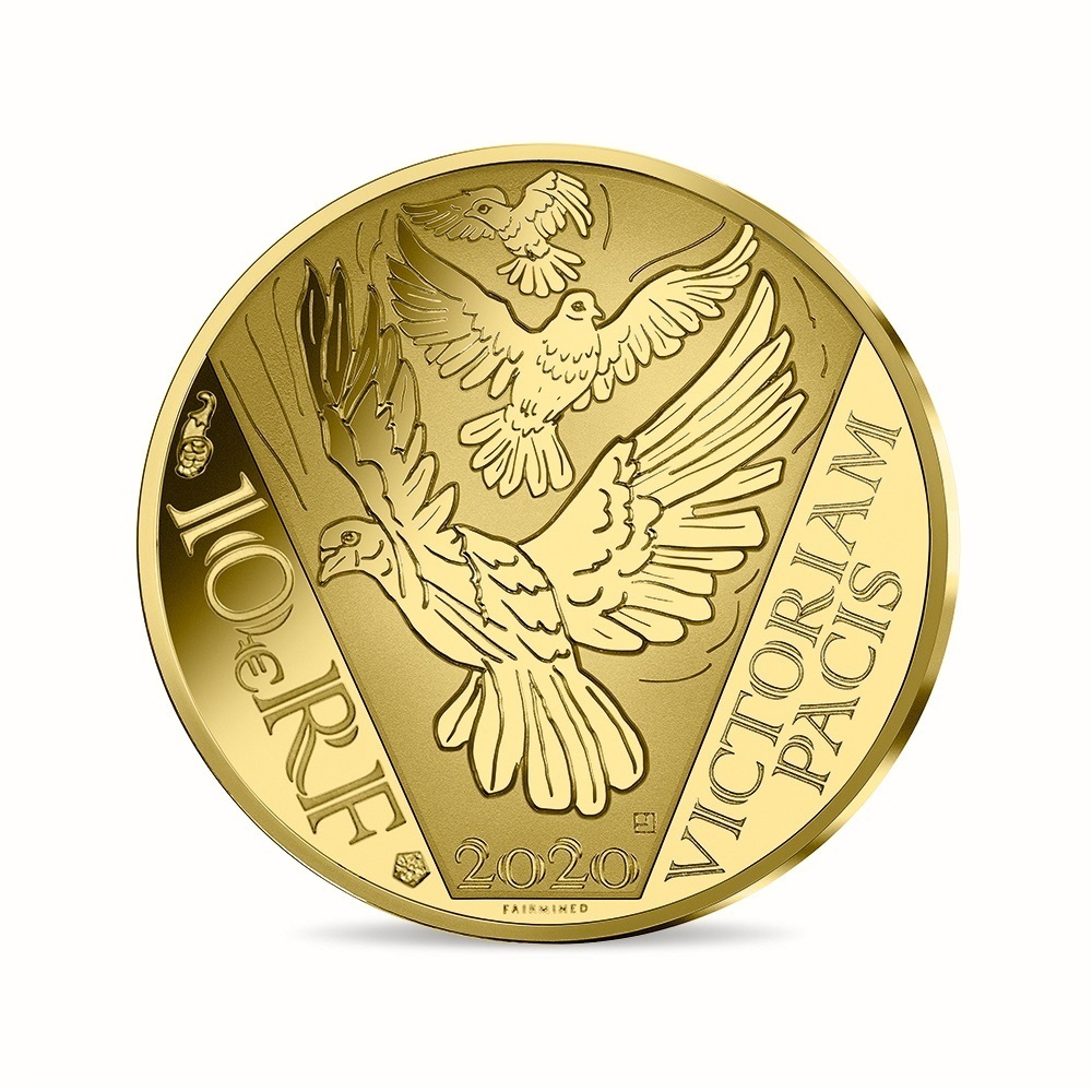 (EUR07.ComBU&BE.2020.10041349450000) 10 euro France 2020 Proof gold - Peace Reverse (zoom)