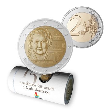 (EUR10.200.2020.roll.1.COM1) Rouleau 2 euro Italie 2020 - Montessori