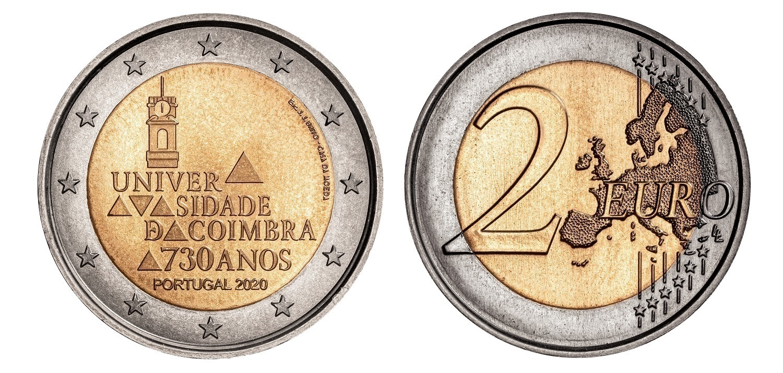 (EUR15.200.2020.12500610) 2 euro Portugal 2020 - University of Coimbra (zoom)