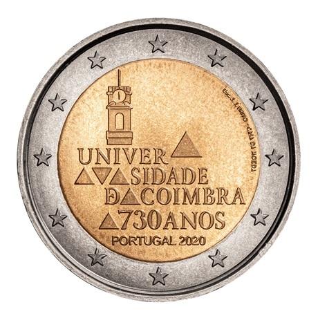 (EUR15.200.2020.12500610) 2 euro commémorative Portugal 2020 - Université de Coimbra Avers