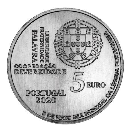 (EUR15.500.2020.12500581) 5 euro Portugal 2020 - Journée mondiale de la langue portugaise Avers