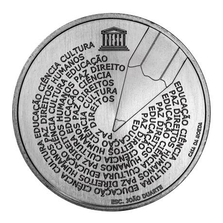 (EUR15.500.2020.12500581) 5 euro Portugal 2020 - Journée mondiale de la langue portugaise Revers