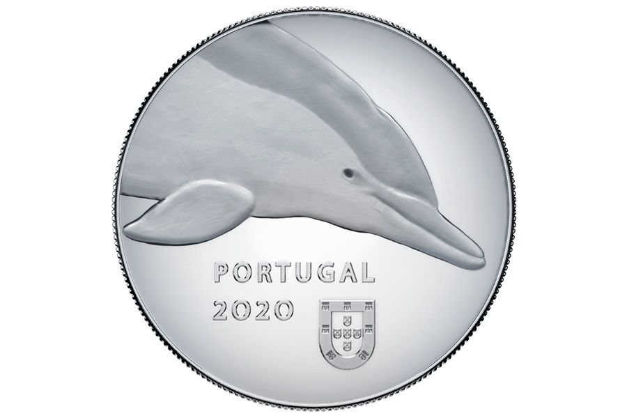 (EUR15.ComBU&BE.2020.1022067) 5 euro Portugal 2020 Proof silver - Dolphin Obverse (zoom)