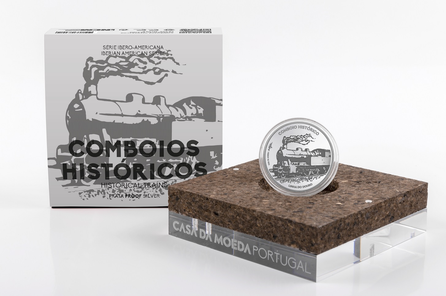 (EUR15.ComBU&BE.2020.1022792) 7.5 euro Portugal 2020 Proof Ag - Historical trains (case) (zoom)