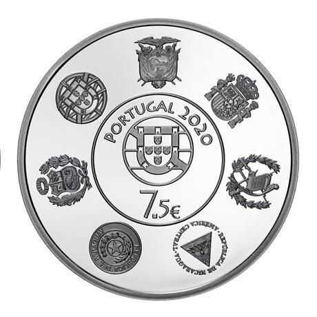 (EUR15.ComBU&BE.2020.1022792) 7,5 euro Portugal 2020 argent BE - Trains historiques Avers