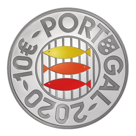 (EUR15.ComBU&BE.2020.1023463) 10 euro Portugal 2020 argent BE - Sardine Avers