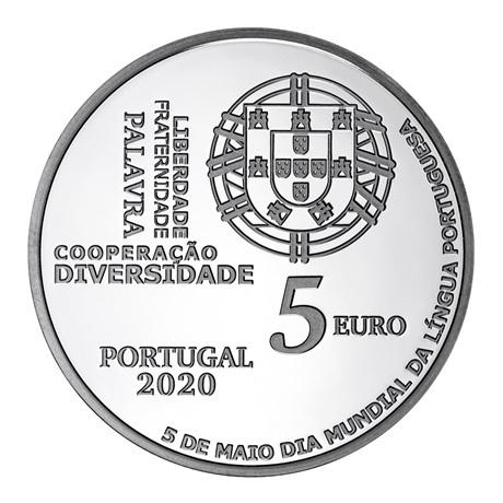 (EUR15.ComBU&BE.2020.1023755) 5 euro Portugal 2020 Argent BE - Journée de la langue portugaise Avers
