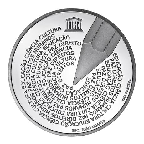 (EUR15.ComBU&BE.2020.1023755) 5 euro Portugal 2020 Argent BE - Journée de la langue portugaise Revers