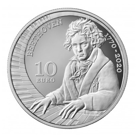 (EUR18.ComBU&BE.2020.322) 10 euro Saint-Marin 2020 argent BE - Beethoven Revers