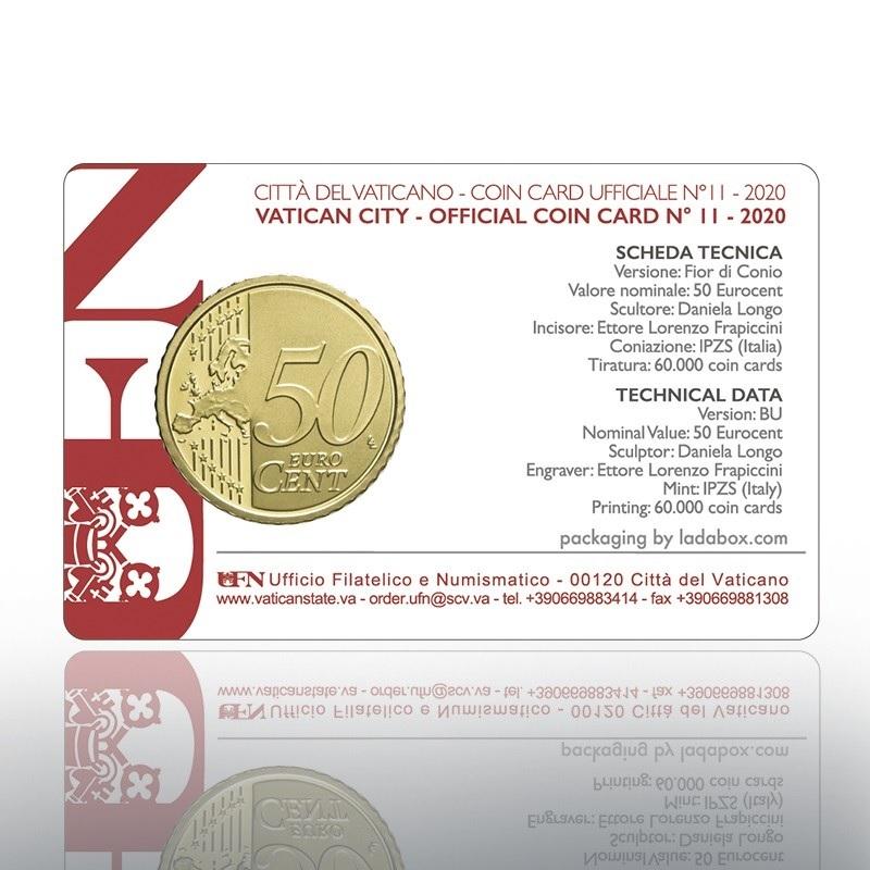 (EUR19.Card.2020.CN1537) Coincard 50 cent Vatican 2020 BU Back (zoom)