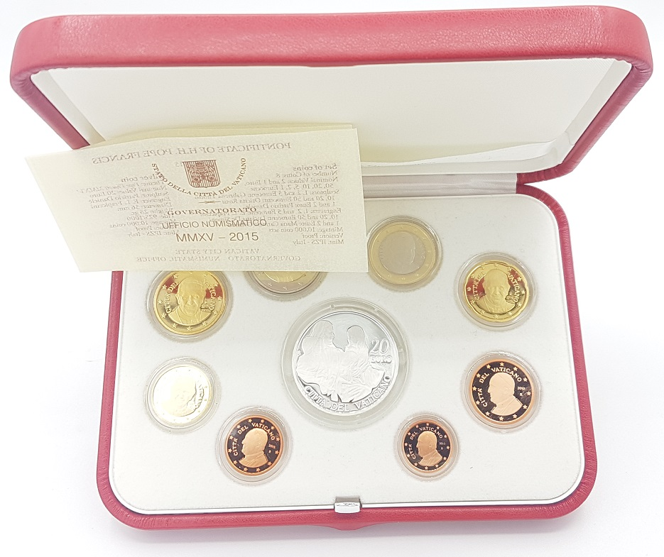 (EUR19.CofBE.2015.Cof-BE.1.000000001) Proof coin set Vatican State 2015 (inside) (zoom)