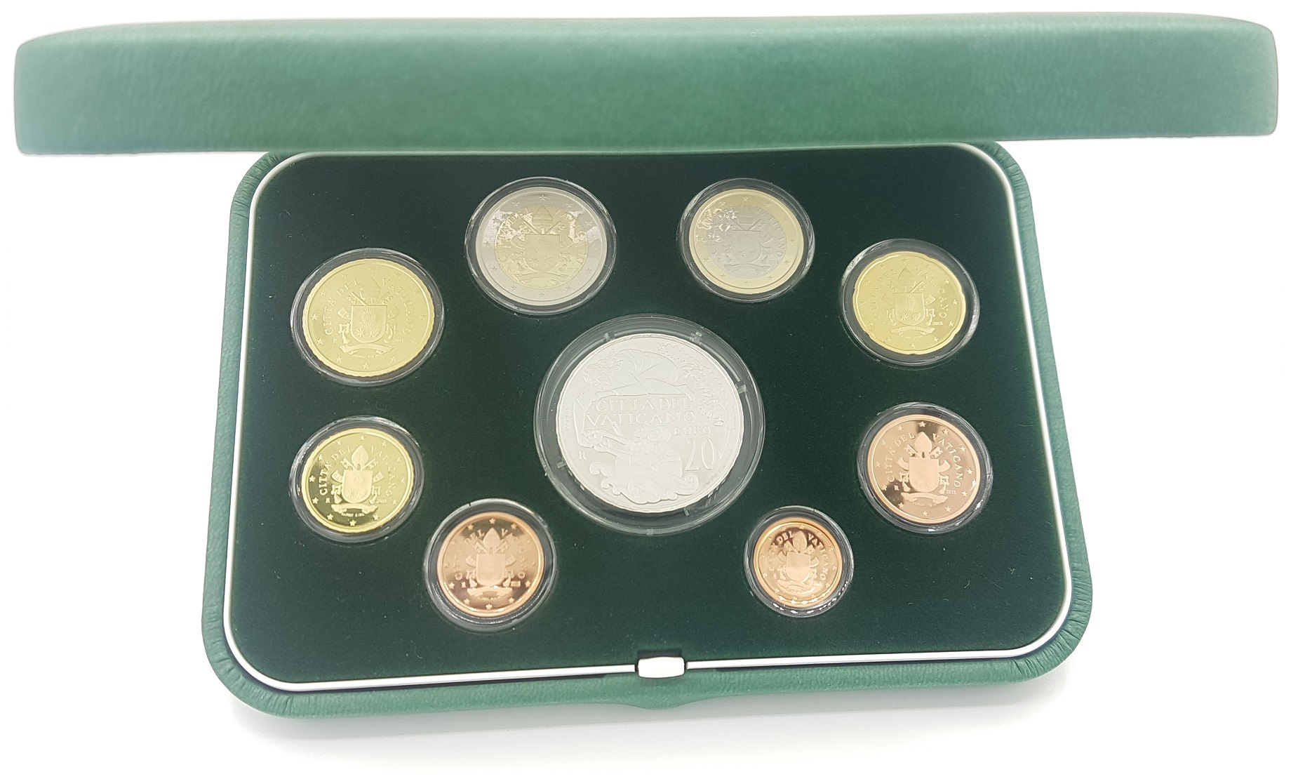 (EUR19.CofBE.2018.CN1429.000000001) Proof coin set Vatican State 2018 (inside) (zoom)