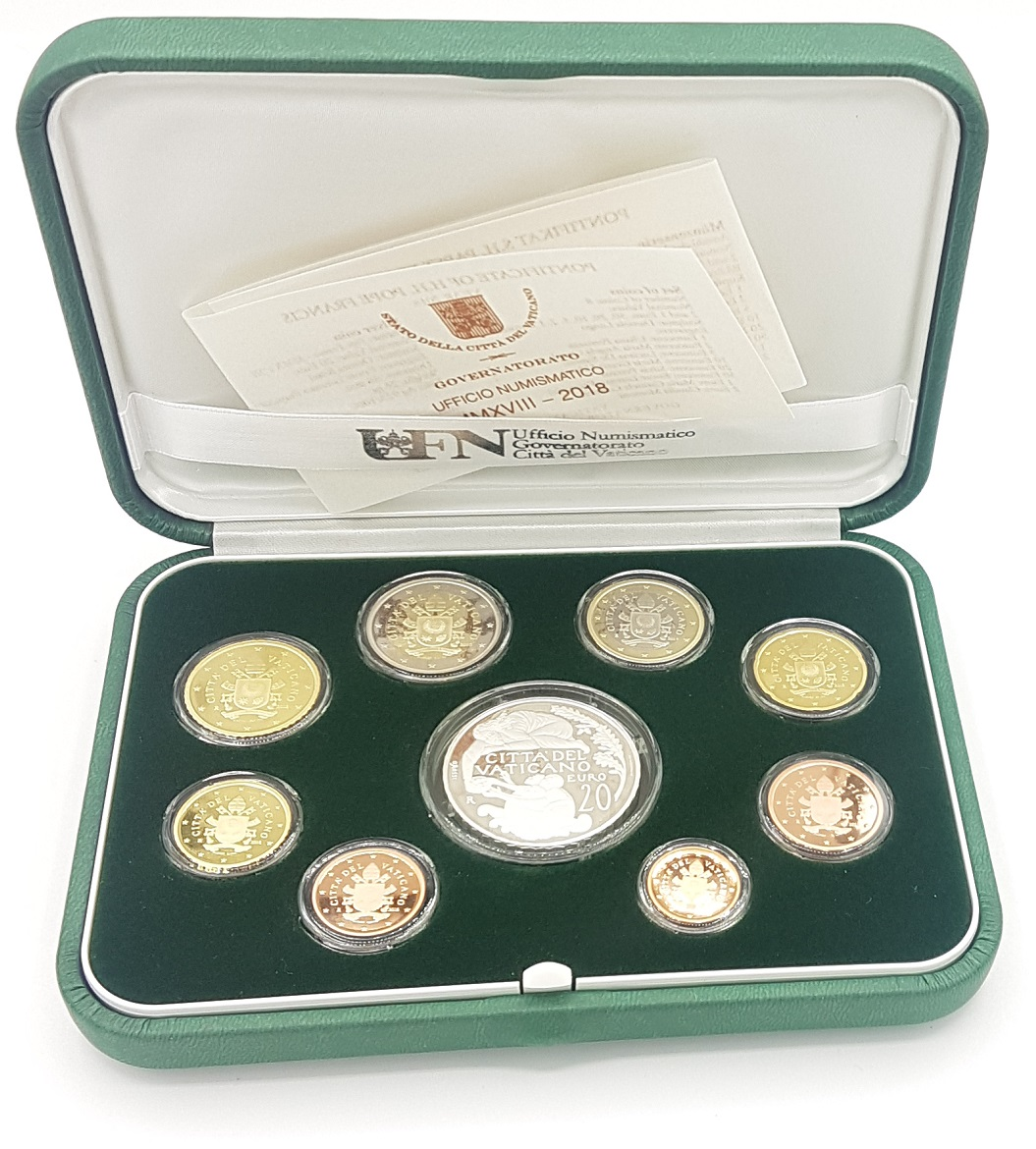 (EUR19.CofBE.2018.CN1429.000000001) Proof coin set Vatican State 2018 (open) (zoom)
