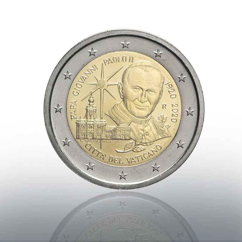 (EUR19.ComBU&BE.2020.CN1539) 2 euro Vatican 2020 BU - Pope John Paul II Obverse (zoom)