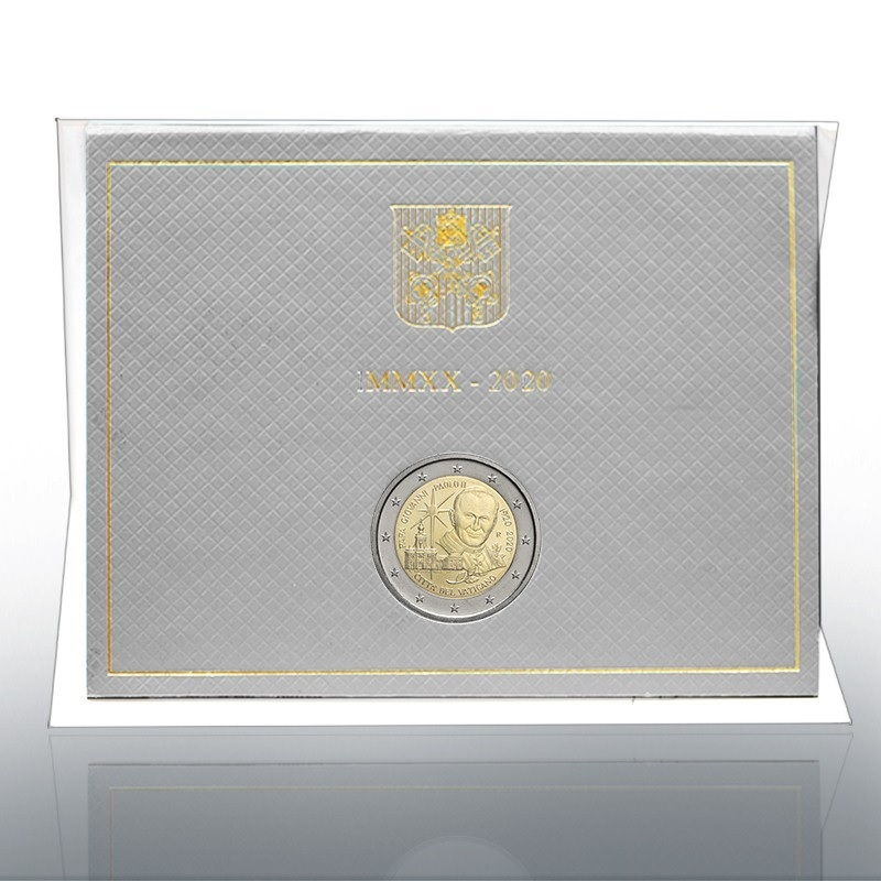 (EUR19.ComBU&BE.2020.CN1539) 2 euro Vatican 2020 BU - Pope John Paul II (packaging) (zoom)