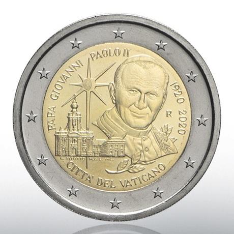 (EUR19.ComBU&BE.2020.CN1539) 2 euro commémorative Vatican 2020 BU - Jean-Paul II Avers