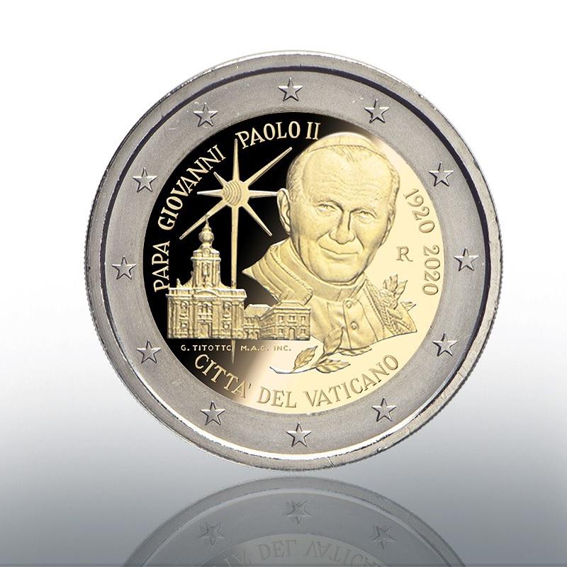 (EUR19.ComBU&BE.2020.CN1540) 2 euro Vatican 2020 Proof - Pope John Paul II Obverse (zoom)