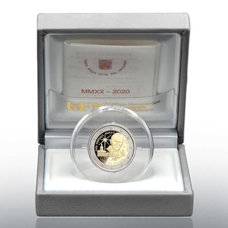 (EUR19.ComBU&BE.2020.CN1540) 2 euro commémorative Vatican 2020 BE - Jean-Paul II (écrin)