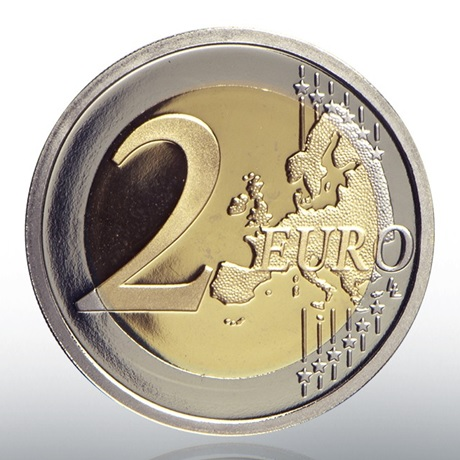 (EUR19.ComBU&BE.2020.CN1540) 2 euro commémorative Vatican 2020 BE - Jean-Paul II Revers