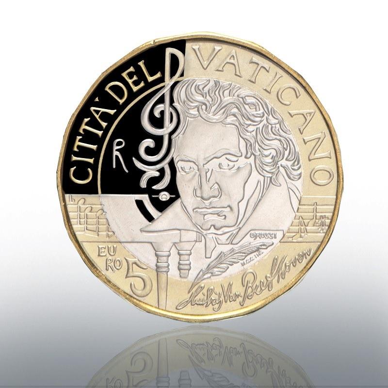 (EUR19.ComBU&BE.2020.CN1541) 5 euro Vatican 2020 Proof - Ludwig Van Beethoven Obverse (zoom)