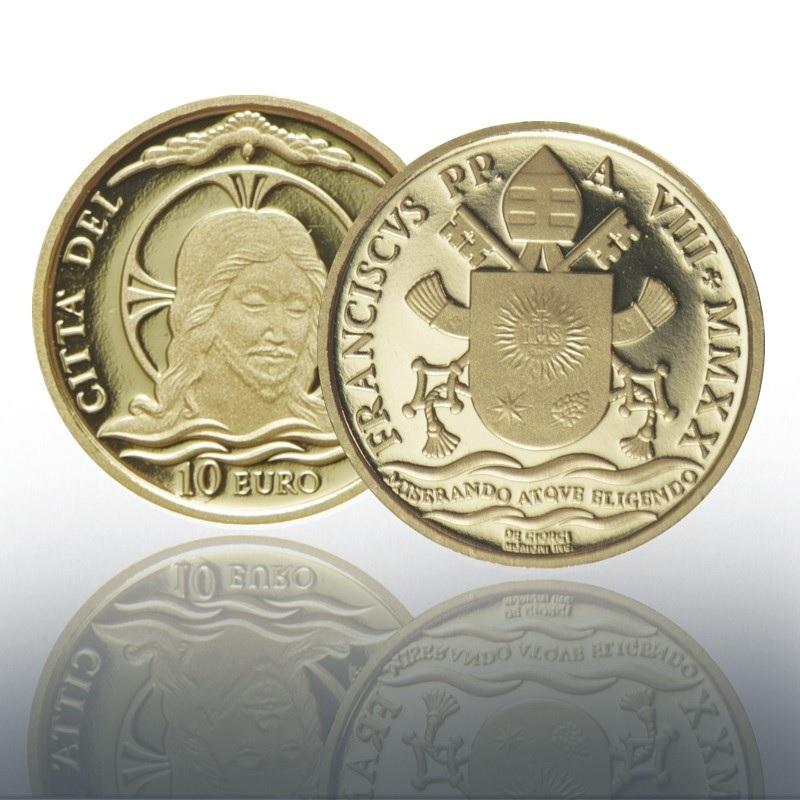 (EUR19.ComBU&BE.2020.CN1542) 10 euro Vatican 2020 Proof gold - Jesus Christ's baptism (zoom)