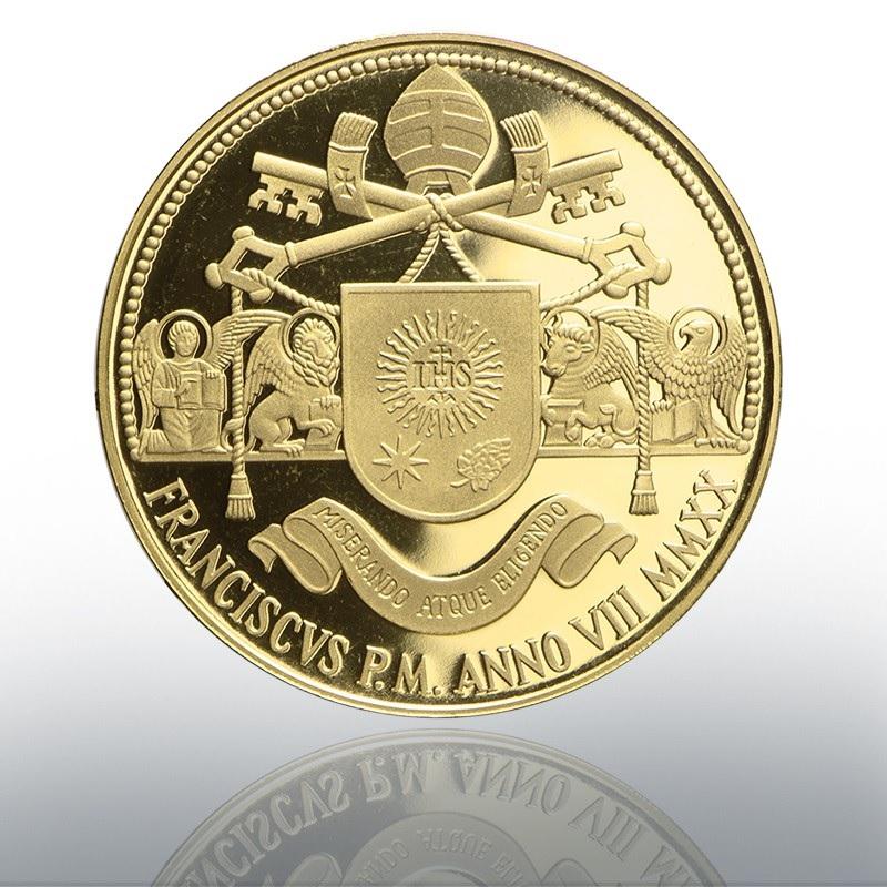 (EUR19.ComBU&BE.2020.CN1543) 100 euro Vatican 2020 Proof Au - Apostolic Constitutions Reverse (zoom)
