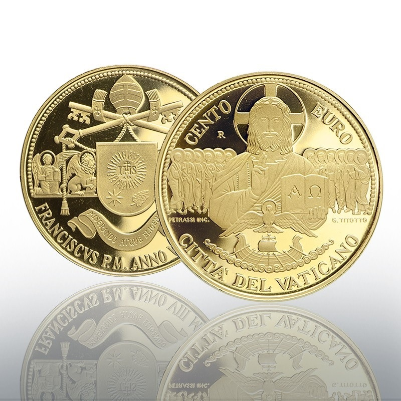 (EUR19.ComBU&BE.2020.CN1543) 100 euro Vatican 2020 Proof gold - Apostolic Constitutions (zoom)