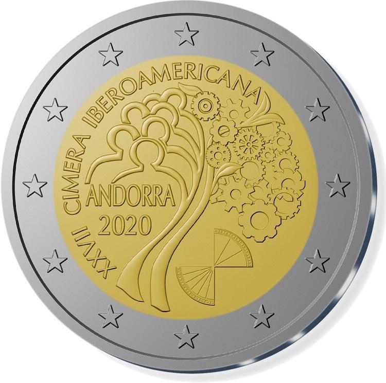 (EUR24.ComBU&BE.2020.200.BU.COM1) 2 euro Andorra 2020 BU - Ibero-American Summit (zoom)