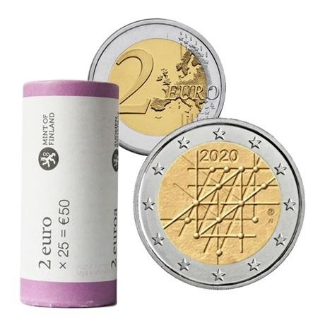 Rouleau 2 euro commémorative Finlande 2020 - Université de Turku
