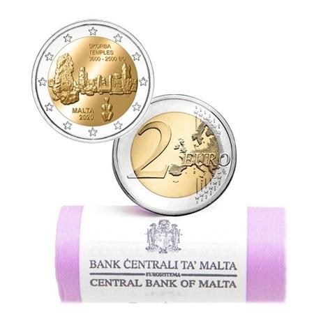 Rouleau 2 euro commémorative Malte 2020 - Skorba
