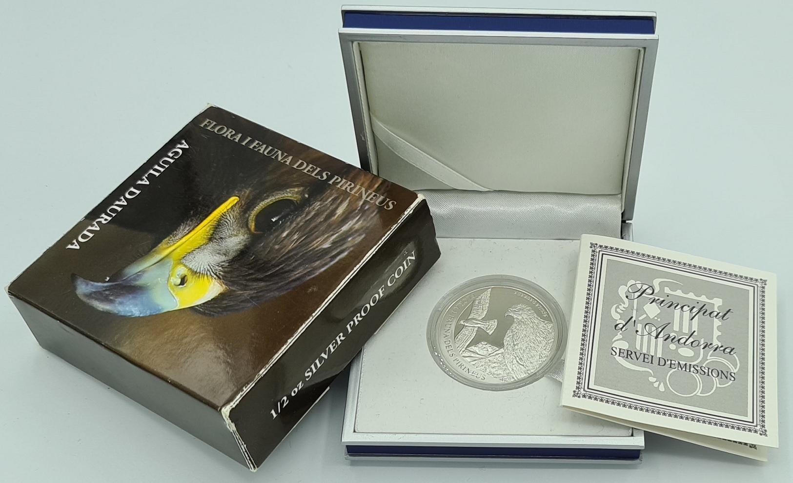 (W009.500.2012.0,50.oz.Ag.1.000000001) 5 Diners Andorra 2011 0.5 oz Proof silver - Golden eagle Reverse (zoom)