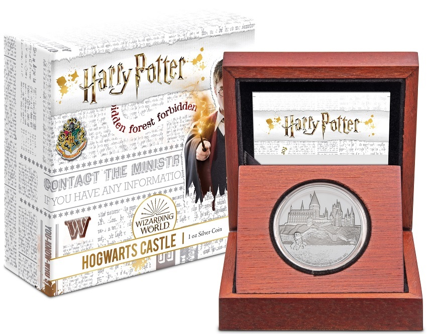(W160.200.2020.30-00888) 2 Dollars Niue 2020 1 ounce Proof silver - Hogwarts Castle (box and case) (zoom)