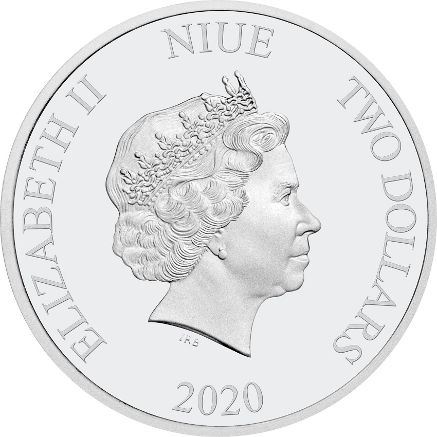 (W160.200.2020.30-00888) 2 Dollars Niue 2020 1 oz Proof silver - Hogwarts Castle Obverse (zoom)