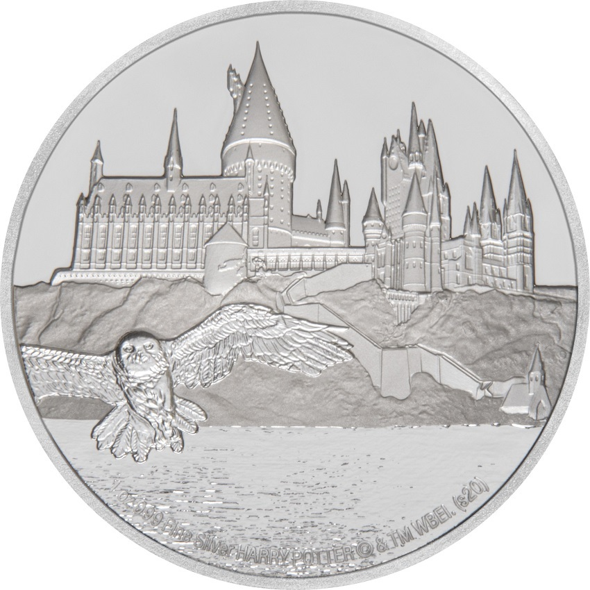 (W160.200.2020.30-00888) 2 Dollars Niue 2020 1 oz Proof silver - Hogwarts Castle Reverse (zoom)