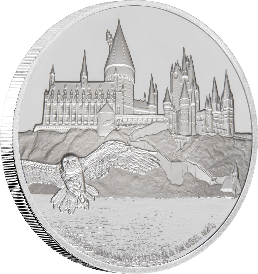 (W160.200.2020.30-00888) 2 Dollars Niue 2020 1 oz Proof silver - Hogwarts Castle (edge) (zoom)