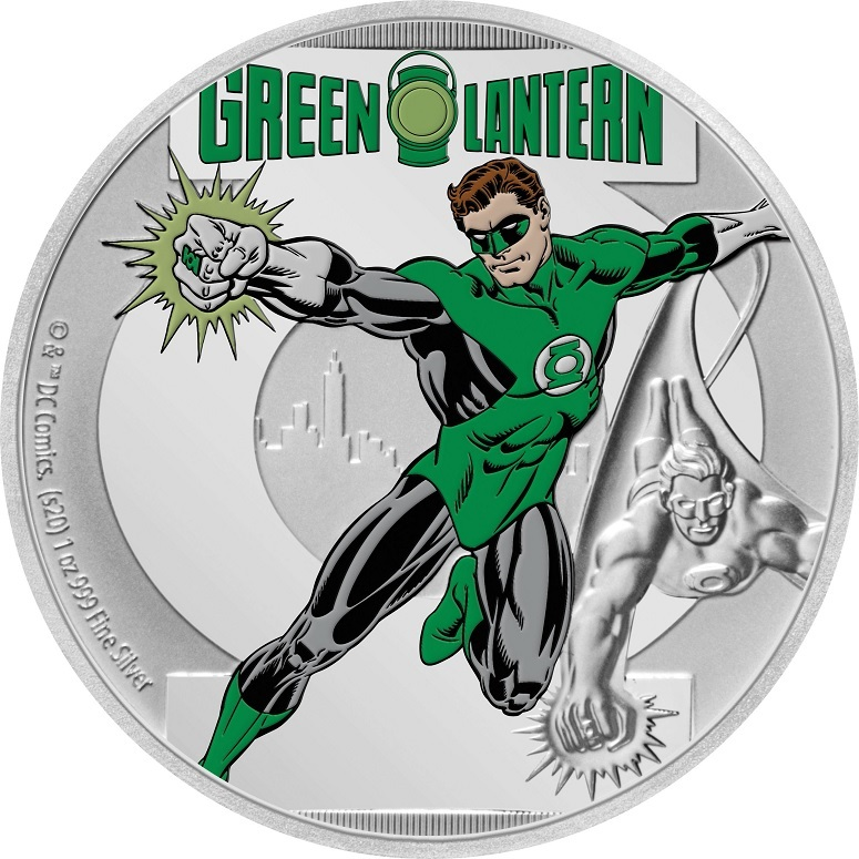 (W160.200.2020.30-00928) 2 Dollars Niue 2020 1 oz Proof silver - Green Lantern Reverse (zoom)
