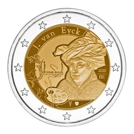 2 euro commémorative Belgique 2020 - Jan Van Eyck