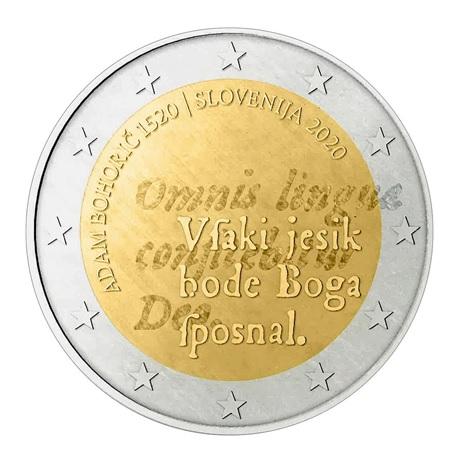2 euro commémorative Slovénie 2020 - Adam Bohorič