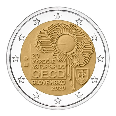 2 euro commémorative Slovaquie 2020 - OCDE