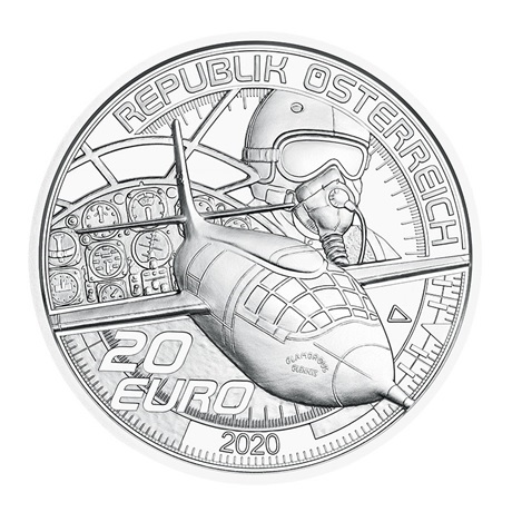 (EUR01.ComBU&BE.2020.2000.BE.24600) 20 euro Autriche 2020 argent BE - Plus vite que le son Avers