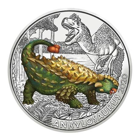 (EUR01.ComBU&BE.2020.300.24596) 3 euro Autriche 2020 - Ankylosaure Revers