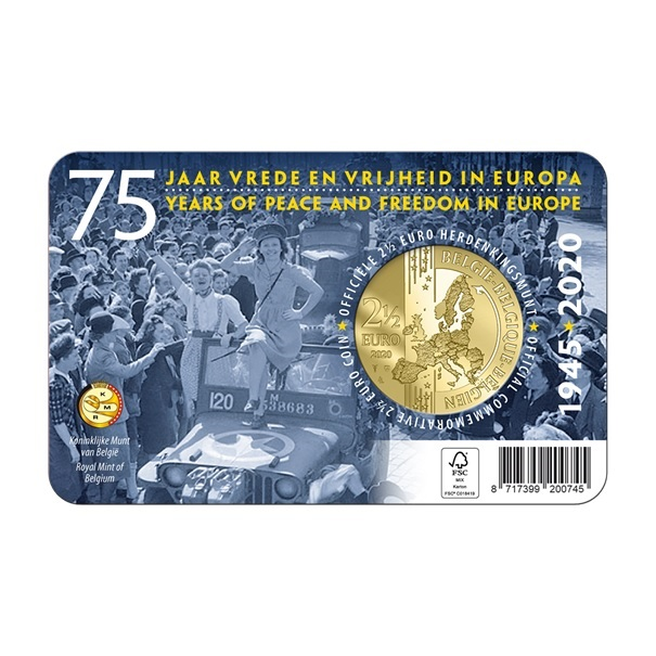 (EUR02.ComBU&BE.2020.250.BU.COM1) 2.5 euro Belgium 2020 BU - Peace - French legend Back (zoom)