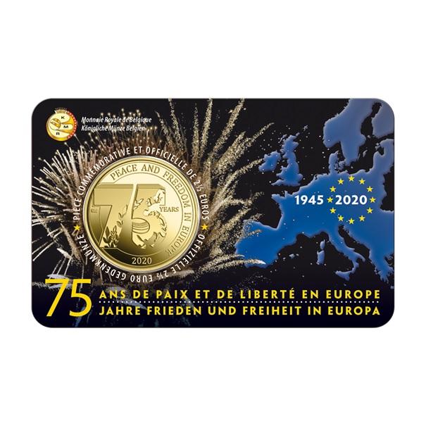 (EUR02.ComBU&BE.2020.250.BU.COM1) 2.5 euro Belgium 2020 BU - Peace - French legend Front (zoom)